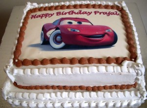 Lightning McQueen Chocolate Cake
